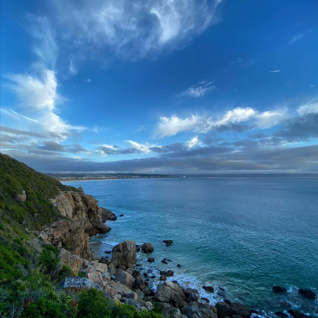 A view of Plettenberg Bay from Robberg Nature Reserve.  Early morning hike.
